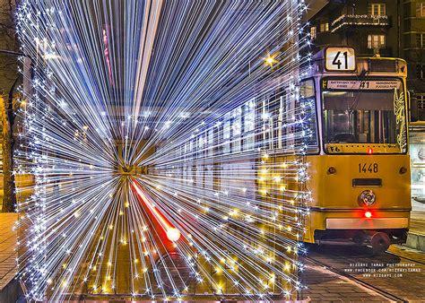 longest last christmas lights 30 000 led lights make the trams in budapest look like time machines bored panda