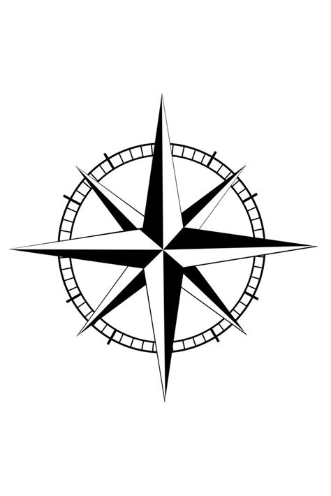 Mariner's Compass Stencil   Compass Tattoo Meaning