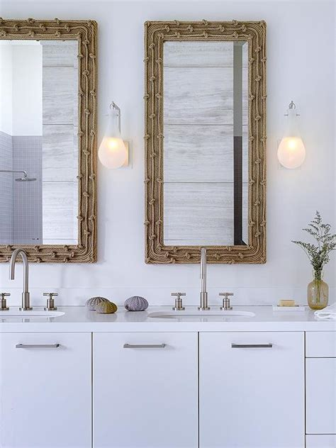 Coastal Bathroom Mirrors by His And Hers Sinks Design Ideas