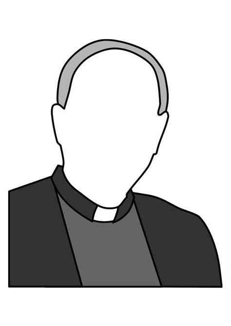Kleurplaat Pastoor by Kleurplaat Priester Afb 22375
