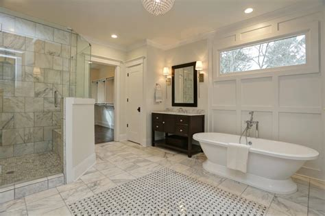 luxury white modern bathroom  wall paneling hgtv