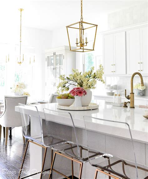 ideas  kitchen counter styling decor gold designs