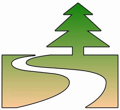 Trail Nature Clip Cutout Clipart Clker