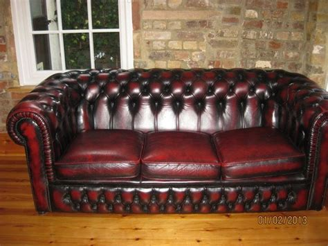 chesterfield settees second oxblood leather chesterfield settee sofa for sale