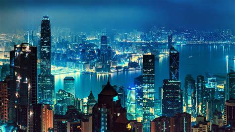 wallpaper hong kong nightscape cityscape skyline hd