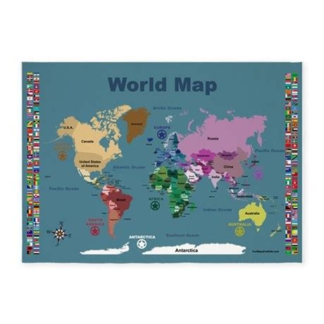 world map rug world map for with flags 5 x7 area rug by funmapsforkids