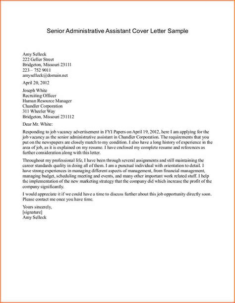 16854 assistant cover letter 10 sle cover letter for assistant budget