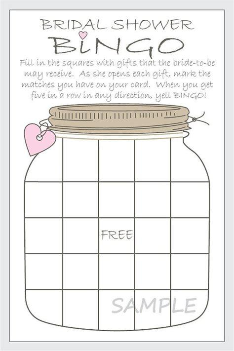 diy bridal shower bingo printable cards by