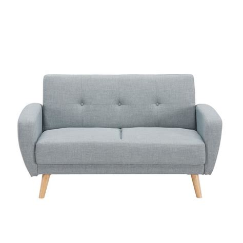 canapé convertible 2 places design canapé 2 places convertible scandinave gris silo achat