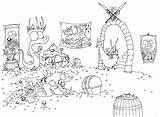 Coloring Cave Sloth Llama Designlooter Pile Alligators Pirate sketch template