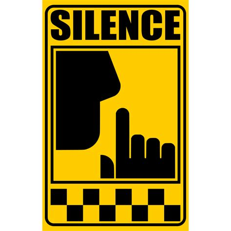clip in silence signal of silence sign vector clipart image free stock