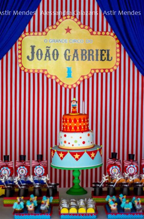 Kara's Party Ideas Circus Themed 1st Birthday Party Kara
