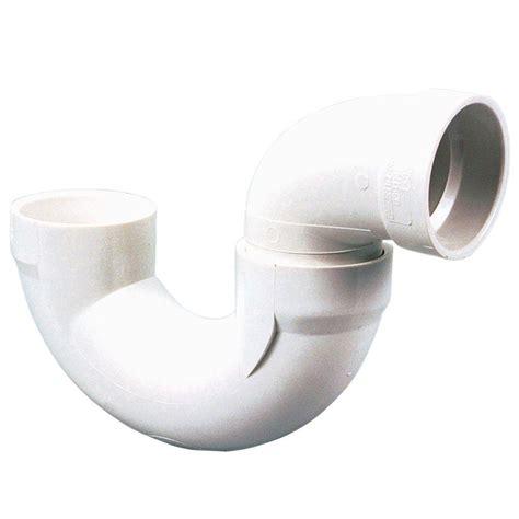 pvc sink trap 2 in pvc dwv hub x hub p trap c4885hd2 the home depot