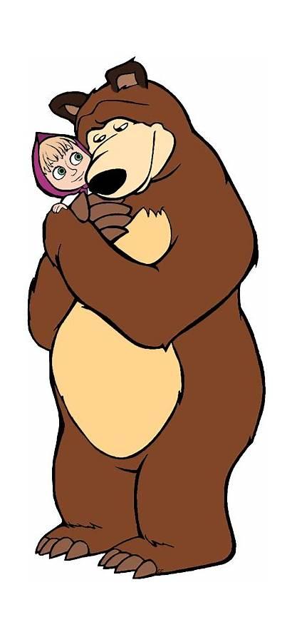 Masha Bear Cartoon Clipart Clip Please Animation