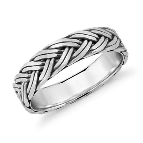 hand braided wedding ring  platinum mm blue nile