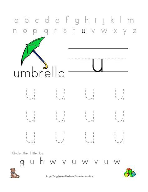 Alphabet Worksheets For Preschoolers  Alphabet Worksheet Little Letter U  Doc Doc