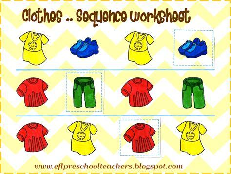 esl efl preschool teachers clothes theme for preschool ell 715 | sequence photo