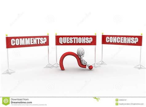3d Man Questions, Comments And Concerns Stock Illustration