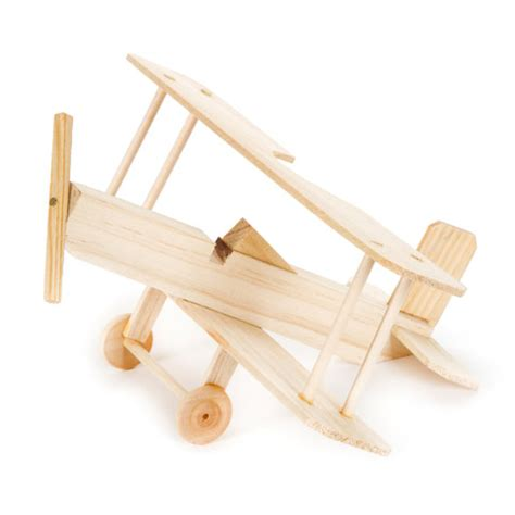 wood model biplane craft kit activity kits kids crafts
