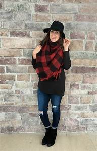 3 Outfits with Black Ankle Boots for Winter - momma in flip flops