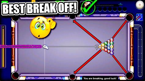 8 Ball Pool  Best Break Off Ever!!  How To Break In 8