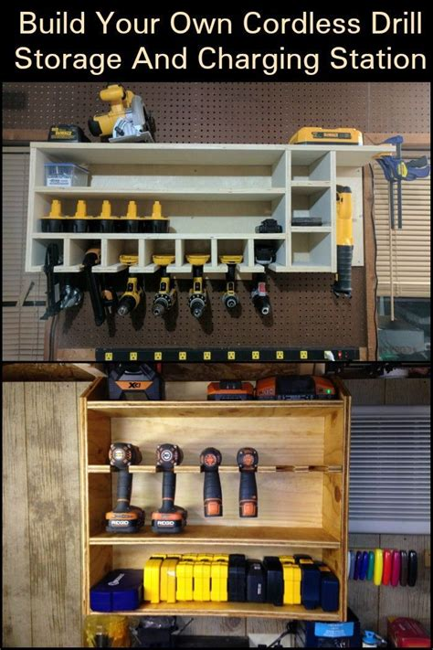 cordless drill storage  charging station