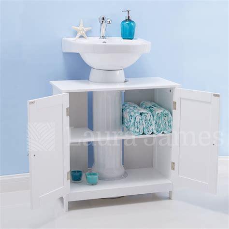 sink bathroom cabinet storage unit cupboard white ebay