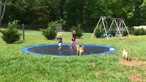 diy  ground trampoline youtube