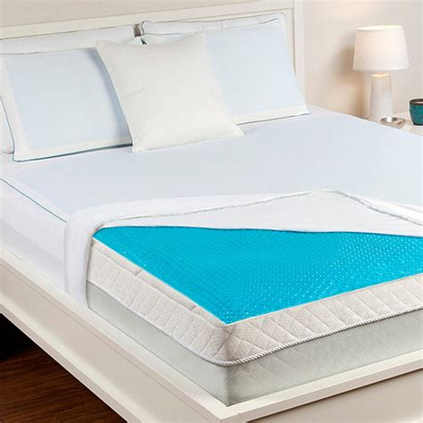 cooling gel mattress topper buy hydraluxe always cool gel mattress pad by comfort