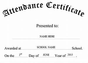 attendance certificate templates word excel samples With certificate of attendance template microsoft word