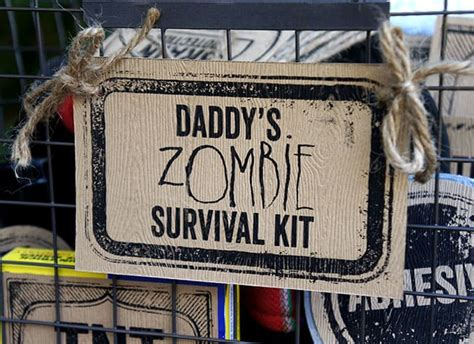 daddys zombie survival kit fathers day gift