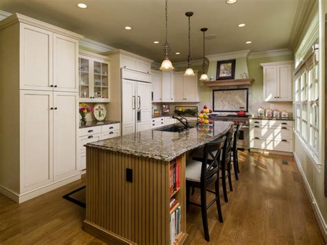 Photos Of Kitchen Islands by Cottage Kitchen With White Cabinets And Large Island Hgtv