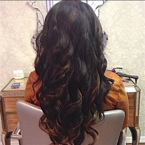 dark hair caramel highlights hairstyles