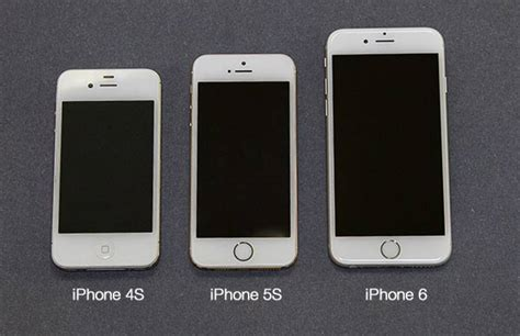 what size is the iphone 5s compare sizes of iphones 4s 5s and 6