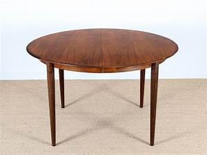 Table Ronde Scandinave Extensible : table ronde extensible scandinave moder black walnut wood ~ Melissatoandfro.com Idées de Décoration