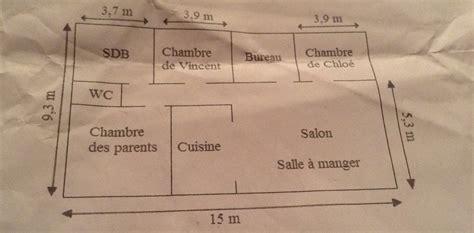 surface minimum chambre voici le plan de l 39 appartement de chloé ses parent