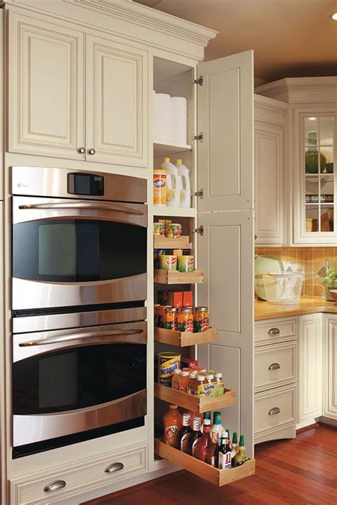 Cabinet Design Images by This Pullout Pantry Cabinet Has Five Rollout Trays That