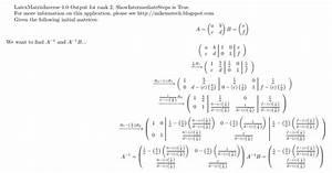 Inverse Matrix 4x4 Berechnen : mike 39 s technology and finance blog inverse of a 2x2 matrix ~ Themetempest.com Abrechnung