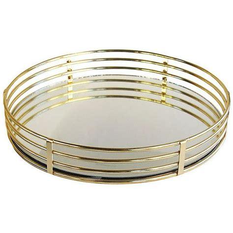 decorative tray 15 quot mirrored tray gold decorative trays 39 via