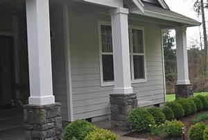 Front porch columns a gathering place for Exterior columns