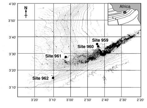 Site Map For Leg 159 Ocean Drilling Program