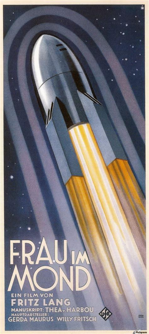 frau im mond vintage poster canvas