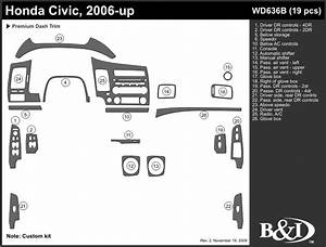 Honda Civic 2006 2007 2008 2009 2010 2011 Dash Trim B
