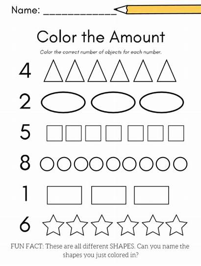 Worksheets Printable Preschool Number Kindergarten Activity Math