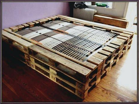 Aa Palettenbett Selber Bauen Europaletten Bett Diy