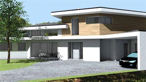 Moderne Häuser Mit überdachter Terrasse by Maison Contemporaine D Architecte 224 Toiture Tuiles Noires