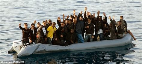 Immigrant Boat by From Kabul To An M1 Service Station Via A Dinghy The