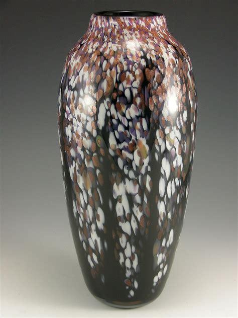 classic winter wisteria vase  mark rosenbaum art glass