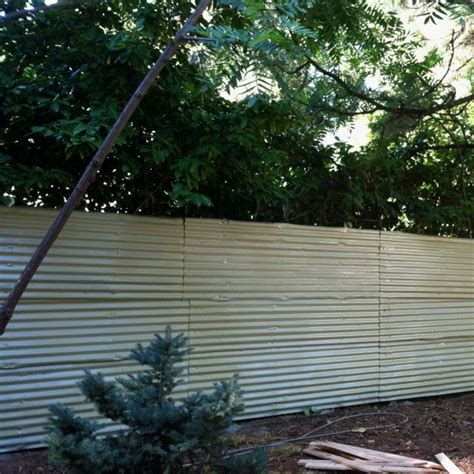 painted corrugated metal fence painted fences fence doors concrete fence corrugated metal