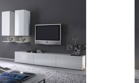 meuble tv dangle blanc laque pas cher id 233 es de